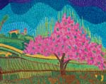 Tuscan Landscape with Flowering Tree